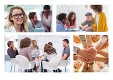 Teamwork meeting collage royalty free stock photos