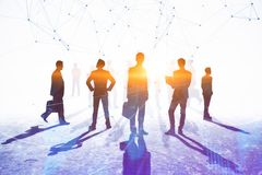 Teamwork, meeting and connection concept Royalty Free Stock Photography