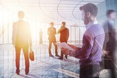 Teamwork, meeting and leadership concept Stock Photography