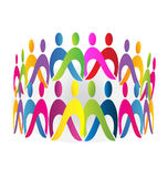 Teamwork meeting people logo Stock Image