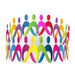 Teamwork meeting people logo. Design Stock Image
