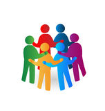 Teamwork meeting people logo Royalty Free Stock Image