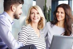 Teamwork at meeting Stock Photo
