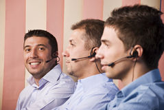 Teamwork men Stock Photo