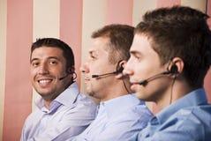 Teamwork men stock photo