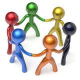 Teamwork men people circle social network individuality icon Royalty Free Stock Photography