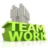 Teamwork mit Marionette Stockbild