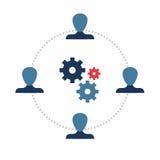 teamwork Modello di Infographics Fotografia Stock