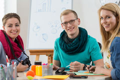 Teamwork in modern office Royalty Free Stock Photos