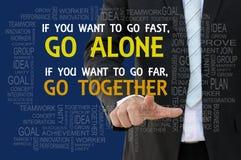 Teamwork-Mottogeschäftskonzept Lizenzfreies Stockfoto