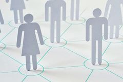 Teamwork and network concept - man and woman working together as. A team stock photos