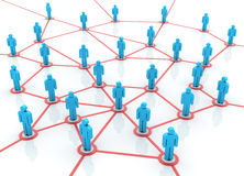 Teamwork - Netz stock abbildung
