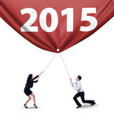 Teamwork and number 2015 Stock Photography