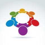 Teamwork- och affärslag och kamratskapsymbol Arkivbilder