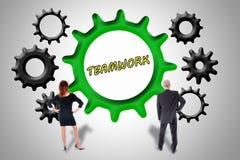 Teamwork- och bidragbegrepp Royaltyfria Foton