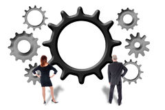 Teamwork- och bidragbegrepp Arkivfoto