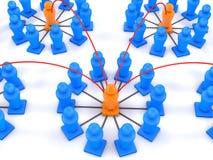 Teamwork och diagram 3d Arkivbilder