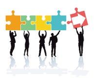 Teamwork och samarbete royaltyfri illustrationer