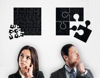 Teamwork- och strategibegrepp arkivfoto