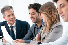 Teamwork at office Stock Photography