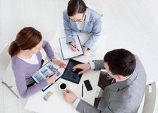 Teamwork in the office Stock Image