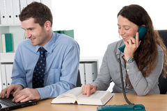 Teamwork in the office Royalty Free Stock Images
