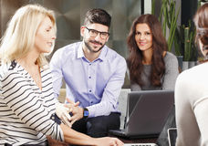 Teamwork at office Stock Photos