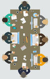 Teamwork for office desk. Stock Image