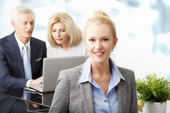 Teamwork at office royalty free stock images