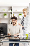 Teamwork at office Royalty Free Stock Image