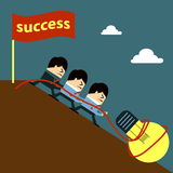 Teamwork. In the office for success Royalty Free Stock Photo