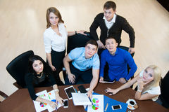 Teamwork in the office Royalty Free Stock Photo