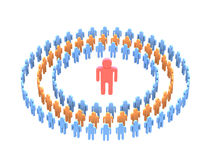 Teamwork over white. 3d image people team with directorin Royalty Free Stock Images