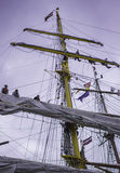 Teamwork på skeppet Royaltyfri Bild