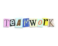 Teamwork Paper Letters Stock Photos