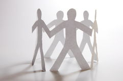 Teamwork of paper man Royalty Free Stock Images
