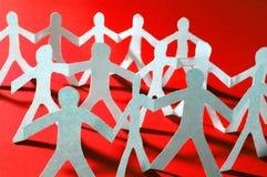 Teamwork of paper team royalty free stock photos