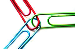 Teamwork Paperclips Royalty Free Stock Photo