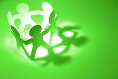 teamwork Papierkettenteam Lizenzfreies Stockfoto