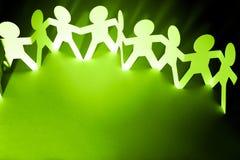 teamwork Papierkettenteam vereinigt Lizenzfreies Stockbild