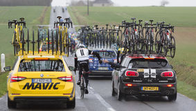 Teamwork - Paris-Nice 2017 royalty free stock photo