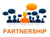 Teamwork-Partnerschafts-Durchschnitte, die zusammenarbeiten und Zusammenarbeit Stockfotos
