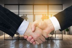 Teamwork and partnership concept stock image