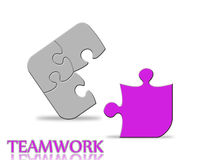 Teamwork. Parts of a puzzle isolated Royalty Free Stock Photos
