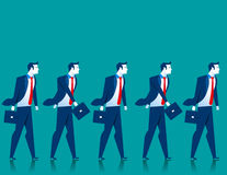 teamwork Passeggiata degli uomini d'affari illustrazione di stock