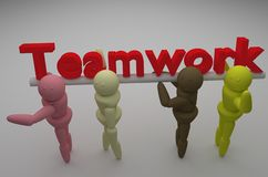 Teamwork. People from all race and gender that work together ... teamwork Stock Photography