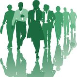 Teamwork People Business Team. Group of young business people teamwork business team, vector illustration Royalty Free Stock Images