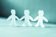 Teamwork People Chain Royalty Free Stock Images