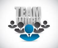 Teamwork people concept illustration Royalty Free Stock Photo