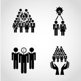 Teamwork people Royalty Free Stock Photography